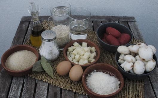 ingedientes para hacer suppli: croquetas de arroz