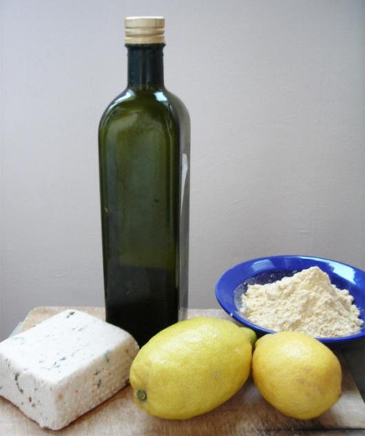 tofu al limón: ingredientes